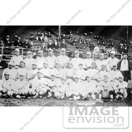 #41231 Stock Photo of The 1916 Red Sox Baseball Team Posing In Their Uniforms by JVPD
