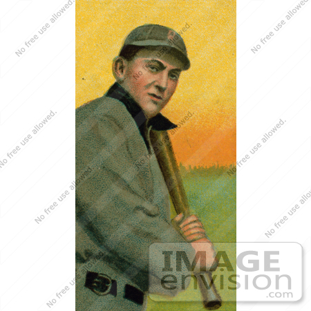 #41246 Stock Illustration of a Vintage Baseball Card Of Tyrus Raymond Cobb Of The Detroit Tigers, Up At Bat by JVPD