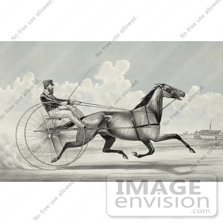 #41330 Stock Illustration of C. Champlin Driving The Trotting Horse Named George Palmer by JVPD