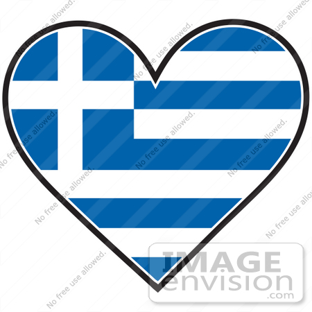 Clip Art Graphic of a Greek Heart Flag | #41374 by Maria Bell ...