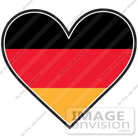 Clip Art Graphic of a German Heart Flag | #41375 by Maria Bell ...