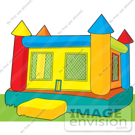 clip art graphic of a bounce castle on grass in a park 41408 by rh imageenvision com bounce house clip art free bounce house clipart no background