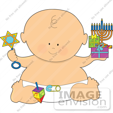 Clip Art Graphic of a Chanukah or Hanukkah Baby | #41531 by Maria ...
