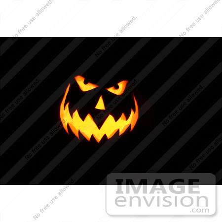 #42 Picture of a Scary Halloween Pumpkin Face by Kenny Adams
