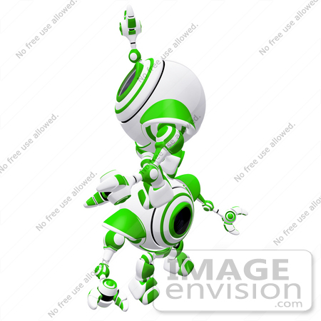 #42292 Clip Art Graphic of a Green Cam Climbing Up On The Back Of Another by Jester Arts