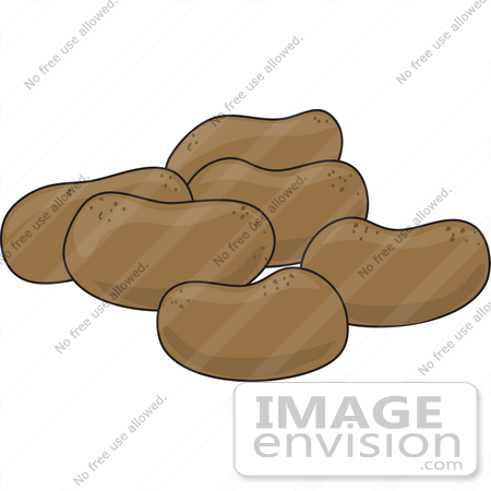 Clip Art Graphic of a Group Of Potatoes | #42311 by Maria Bell ...