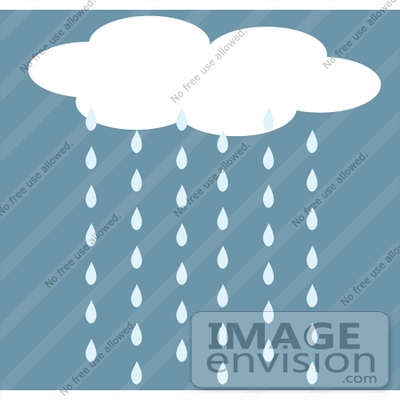 #42319 Clip Art Graphic of Rain Cloud Pouring Water Down by Maria Bell