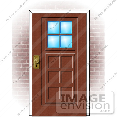 free clipart door. #42357 Clip Art Graphic Of A Brick Home's Door by DJArt