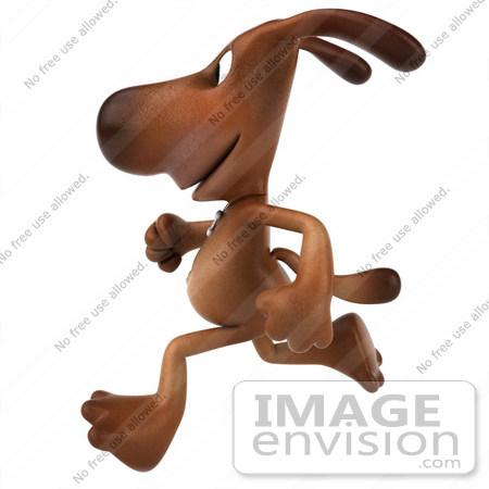 #42946 Royalty-Free (RF) Clipart Illustration of a 3d Brown Dog Mascot