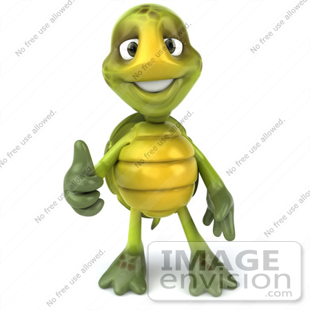 Royalty Free Rf Cartoon Clipart Of A 3d Turtle Mascot Facing