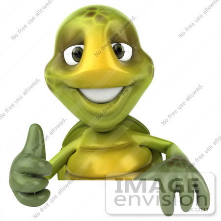Royalty Free Rf Cartoon Clipart Of A 3d Turtle Mascot Standing