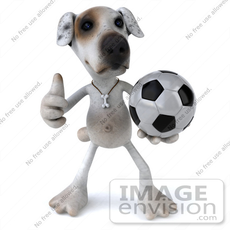 Royalty-Free (RF) Clipart Illustration of a 3d Jack Russell ...
