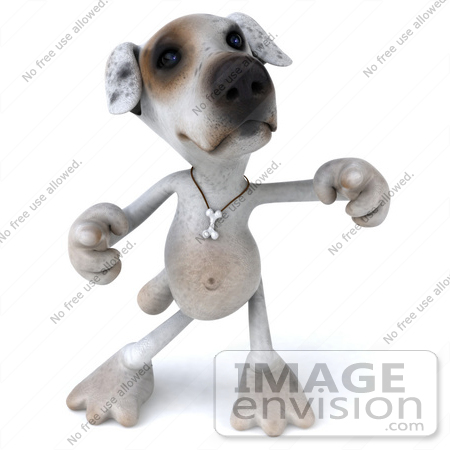 #43138 Royalty-Free (RF) Clipart Illustration of a 3d Jack Russell Terrier Dog Mascot Dancing - Pose 2 by Julos