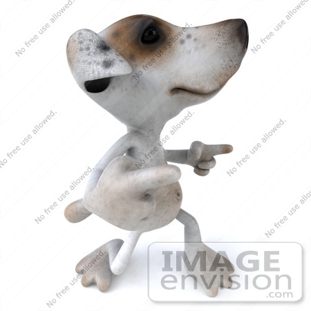 #43157 Royalty-Free (RF) Clipart Illustration of a 3d Jack Russell Terrier Dog Mascot Dancing - Pose 5 by Julos