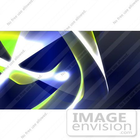 #43277 Royalty-Free (RF) Illustration of a Background Of Blue And Yellow Swooshes And Bright Lights - Version 4 by Julos