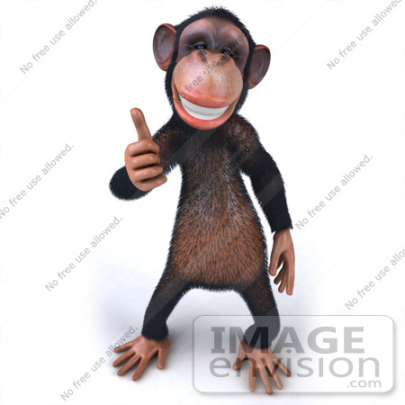 Chimp Astronaut Giving Thumbs Up - Pics about space