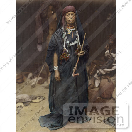 #43453 RF Stock Photo Of A Bedouin Woman Holding A Pipe by JVPD