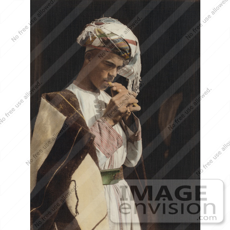 #43475 RF Stock Photo Of A Male Shepherd Playing His Flute by JVPD