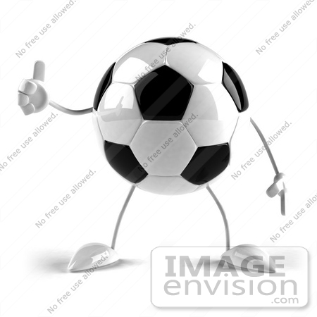 #43614 Royalty-Free (RF) Illustration of a 3d Soccer Ball Mascot With Arms And Legs, Giving The Thumbs Up - Version 1 by Julos
