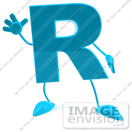 Letter R Images 3d Images of a 3d Turquoise Letter R