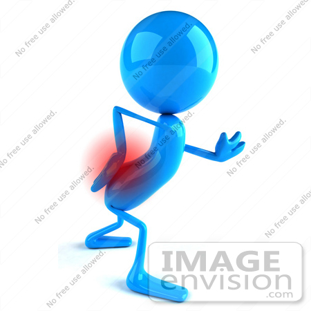 Royalty Free Rf Illustration Of A 3d Blue Man Mascot With Lower Back Pain Version 1 44048 By Julos Royalty Free Stock 3d Graphics
