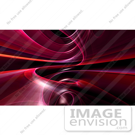 #44462 Royalty-Free (RF) Illustration of a Background Of Purple Spiraling Fractals On Black - Version 3 by Julos