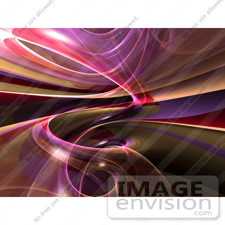 #44464 Royalty-Free (RF) Illustration of a Reflective Purple Spiral Background - Version 1 by Julos