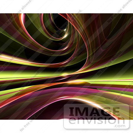 #44468 Royalty-Free (RF) Illustration of a Reflective Green Spiral Background - Version 1 by Julos