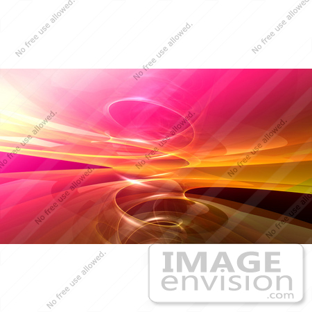 #44486 Royalty-Free (RF) Illustration of a Background Of A Circling Pink And Orange Fractal Reflection by Julos