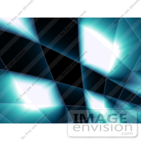 #44495 Royalty-Free (RF) Illustration of a Blue Grid And Swoosh Background On Black - Version 1 by Julos