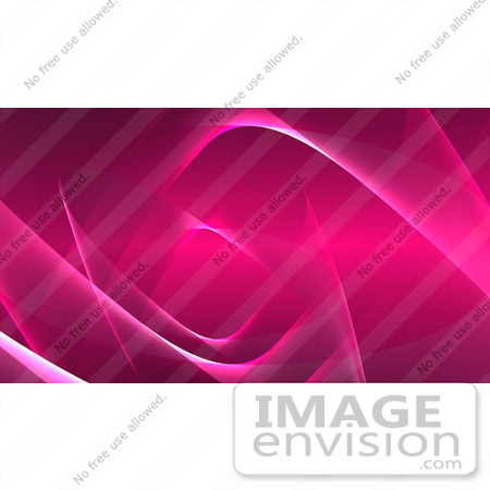 #44503 Royalty-Free (RF) Illustration of a Pink Wispy Wave Background - Version 2 by Julos