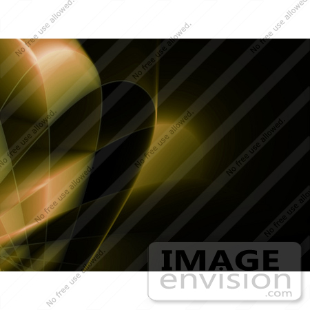 #44505 Royalty-Free (RF) Illustration of a Yellow Grid And Swoosh Background On Black by Julos