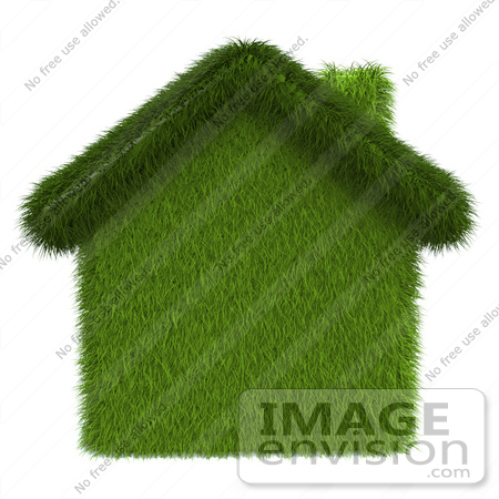 #46991 Royalty-Free (RF) Illustration Of A 3d Grass House - Version 1 by Julos