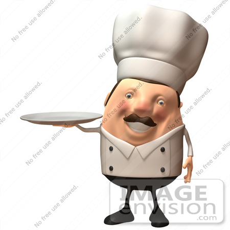 Royalty-Free (RF) Illustration Of A 3d Chubby Executive Chef Mascot ...