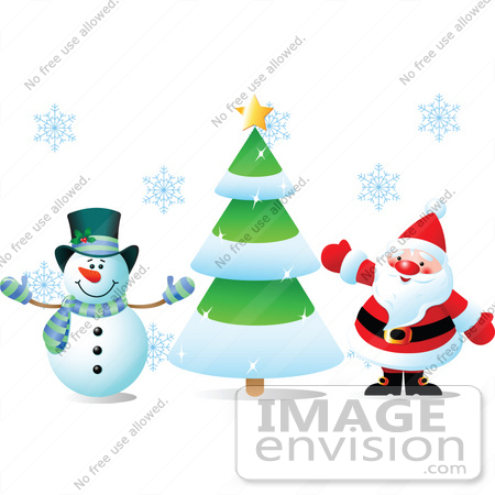 Santa Claus And Frosty The Snowman Snowman And Santa Claus