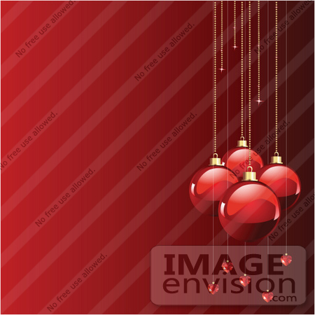 Clip Art Illustration Of A Border Of Large And Small Xmas Bulbs On ...