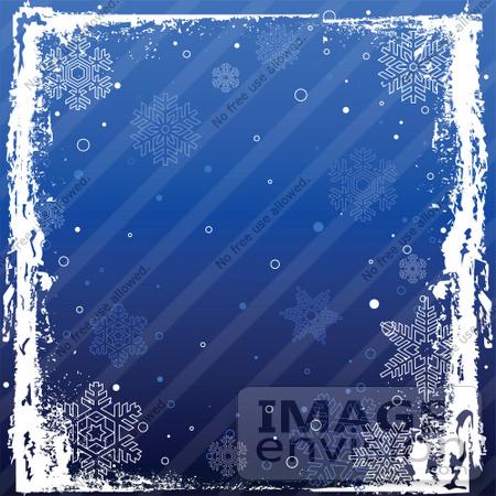 Blue snowflake border clipart