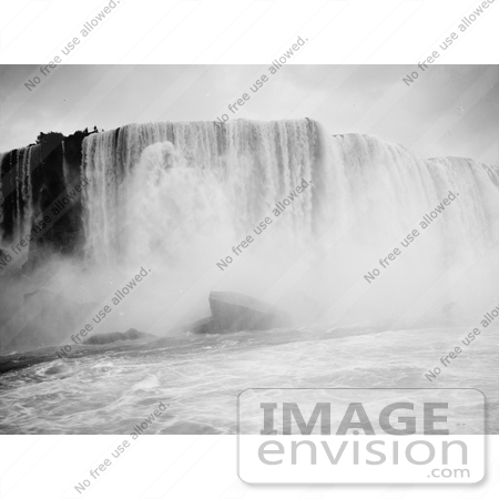 #48808 Royalty-Free Stock Photo Of A Scene Of Rushing Waters Of Horseshoe Falls From The Maid Of The Mist, Niagara Falls, New York by JVPD