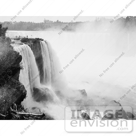 #48809 Royalty-Free Stock Photo Of A View Of Horseshoe Falls From Goat Island At Niagara Falls by JVPD