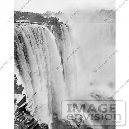 #48811 Royalty-Free Stock Photo Of Rushing Waters Of Horseshoe Falls At Niagara Falls by JVPD