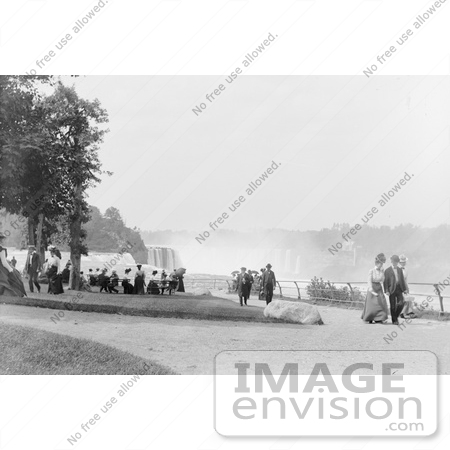 #48812 Royalty-Free Stock Photo Of People Strolling At Prospect Point Park, Niagara Falls by JVPD