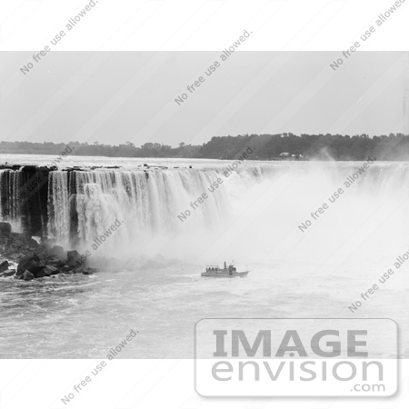 #48815 Royalty-Free Stock Photo Of A Steamboat In The Mist At The Bottom Of Horseshoe Falls, Niagara Falls by JVPD
