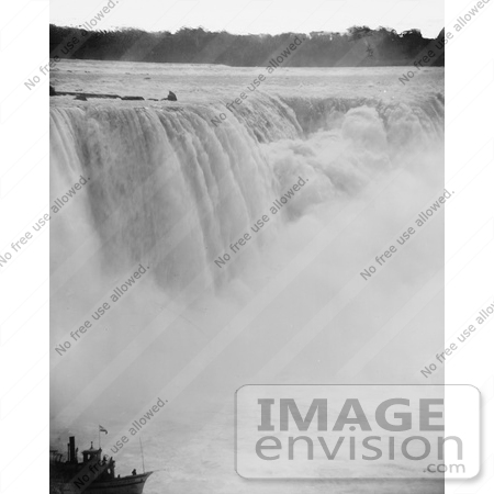 #48816 Royalty-Free Stock Photo Of Rushing Waters Of Horseshoe Falls Crashing Into Mist Below, Niagara Falls by JVPD