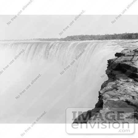 #48817 Royalty-Free Stock Photo Of A View From On Top Of Horseshoe Falls, Niagara Falls by JVPD