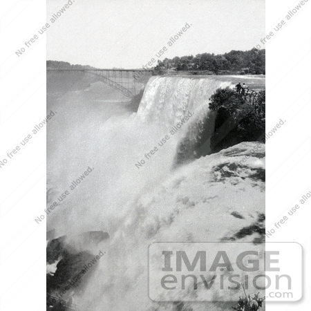 #48820 Royalty-Free Stock Photo Of A View Onto American Falls From Goat Island, Niagara Falls by JVPD