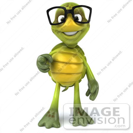 Royalty Free Rf Illustration Of A 3d Green Turtle Mascot Wearing
