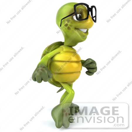 Royalty Free Rf Illustration Of A 3d Green Turtle Mascot Walking