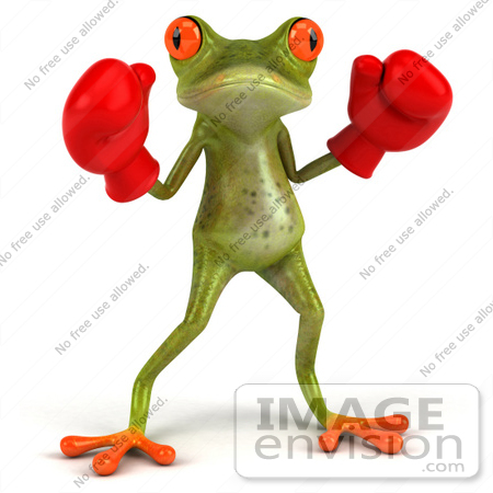#49513 Royalty-Free (RF) Illustration Of A 3d Red Eyed Tree Frog Boxer - Version 1 by Julos