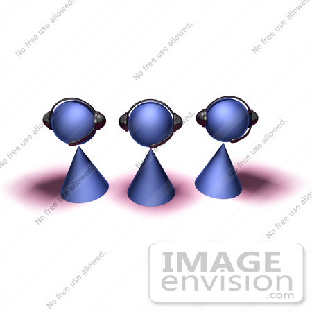 Royalty-Free (RF) Illustration Of A Group Of Three 3d ...
