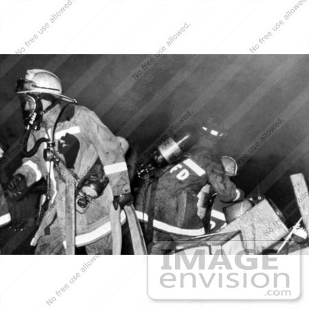 #5065 Stock Photography of Firefighters Battling a Fire that was Sparked Days After Hurricane Hugo by JVPD